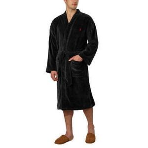 Ralph Lauren Smokey Black Robe NWT